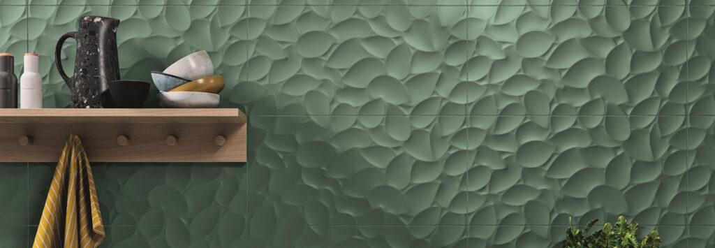 Ceska Keramika Kupelnove Studio Znacka Love Tiles Kolekcia Genesis Leaf Green